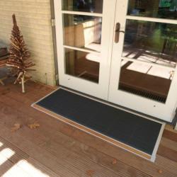 RiZZ Deurmat Outdoor met teak 90x60cm