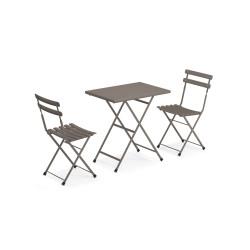 EMU Arc en Ciel - Set: 2 stoelen + tafel 70x50