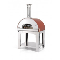 Mangiafuoco Red 60x80 - 4 pizza's (incl. trolley)