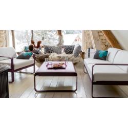 Fermob Bellevie lounge zetel - lichtgrijze kussens