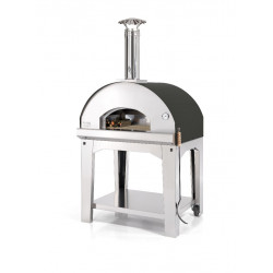 PROMO Pizzaoven Antraciet 80x80 - 6 pizza's (incl. trolley)