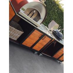 PROMO Pizza Oven Antraciet 60x60 - 2 pizza's
