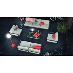 Fermob Bellevie lounge zetel - witte kussens